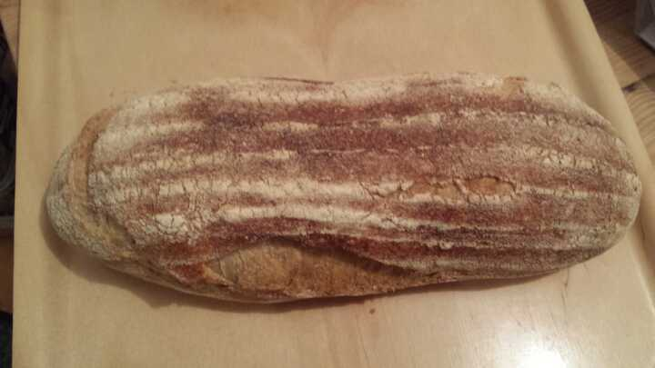1 x White Flour Dusted Artisan Sourdough Loaf from Sourced Food Market Marylebone