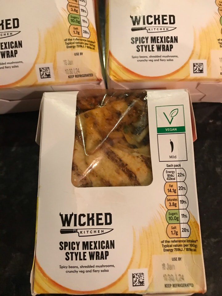 Wicked Spicy Mexican Style WrapX2
