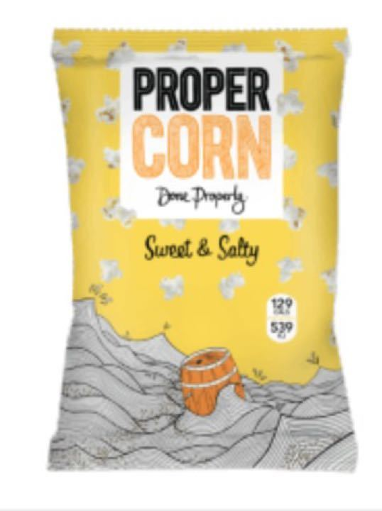 Many small Sweet and Salty bags of ProperCorn