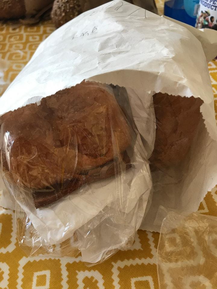 Bag 6: vegan pain au chocolates from artisan bakery