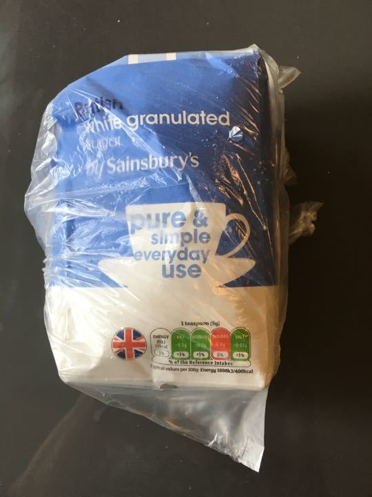 Bag of sugar (bag split)