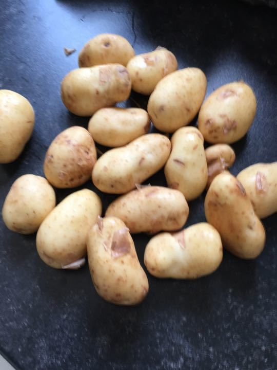 New potatoes 1kg x 5 bags (1 per family request)