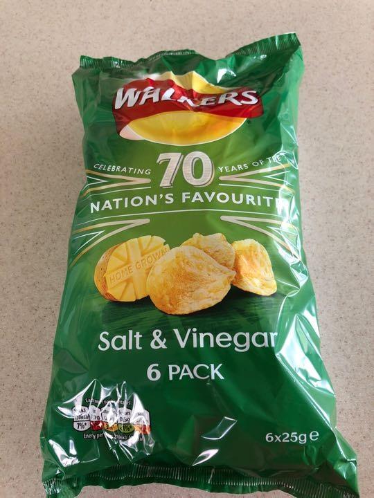 Salt n vinegar crisps 6 pack