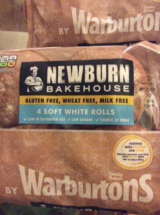 4 soft white rolls - gluten,wheat,milk free