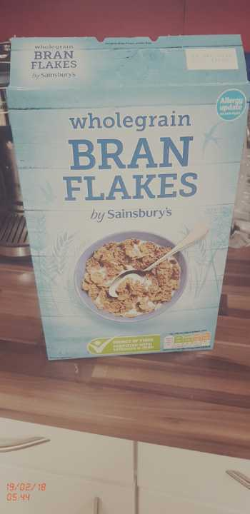 Wholegrain bran flakes. Opened but 90% remaining.