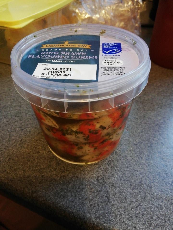 King prawn flavoured surimi