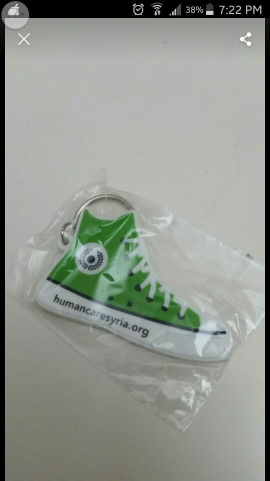 Converse style keyring in aid of Syria