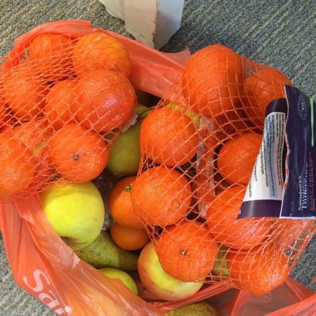 Bag of oranges, apples and the odd pear