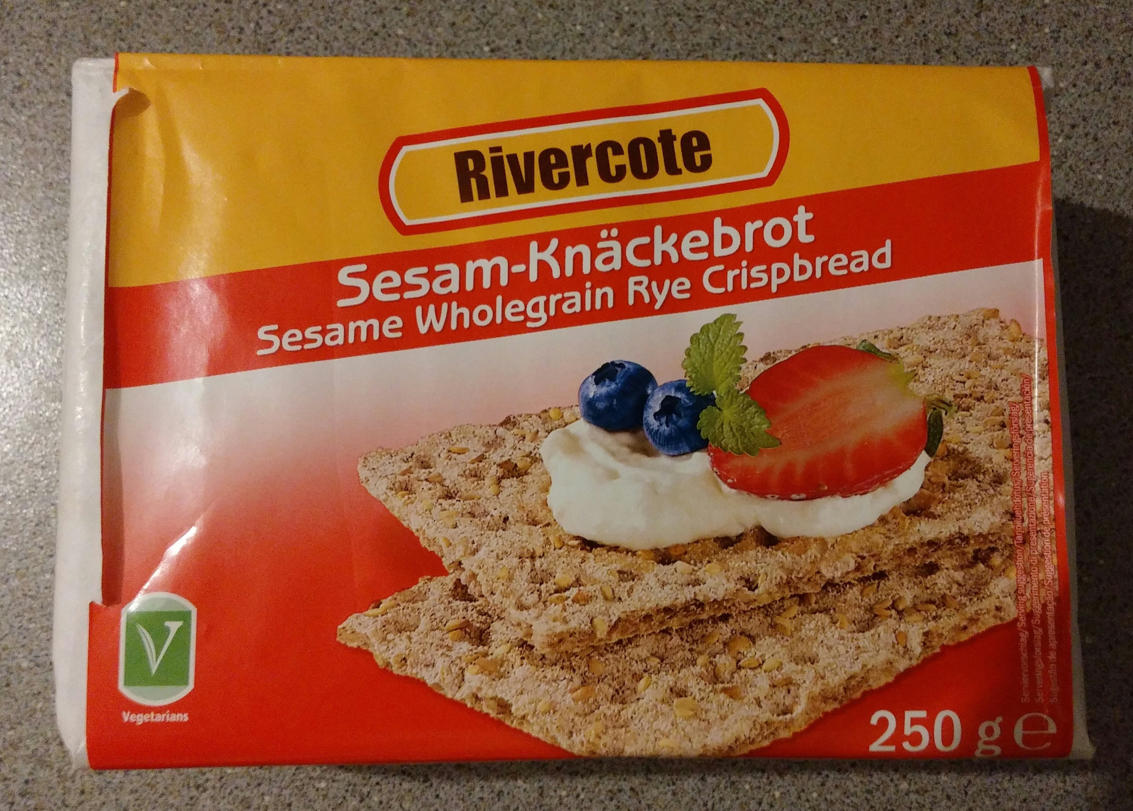 Sesame Wholegrain Rye Crispbread (250g)