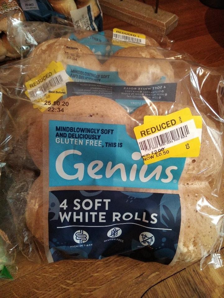 Genius gluten free rolls x 4