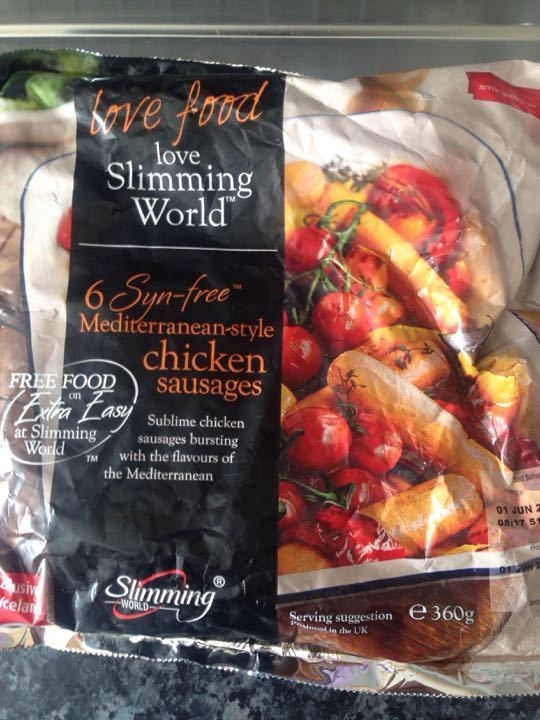 Slimming World chicken sausages