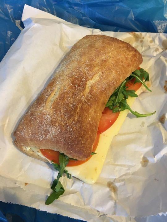 Cheese and tomato ciabatta