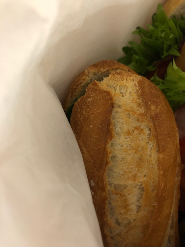 Fresh baguettes from Caffe Nero 19/12