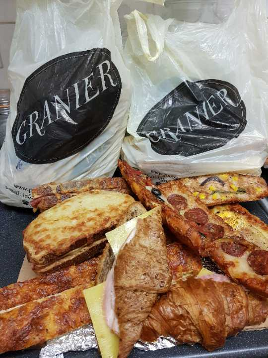 Granier Savoury Selection - toasties, pizza slices and filled croissants