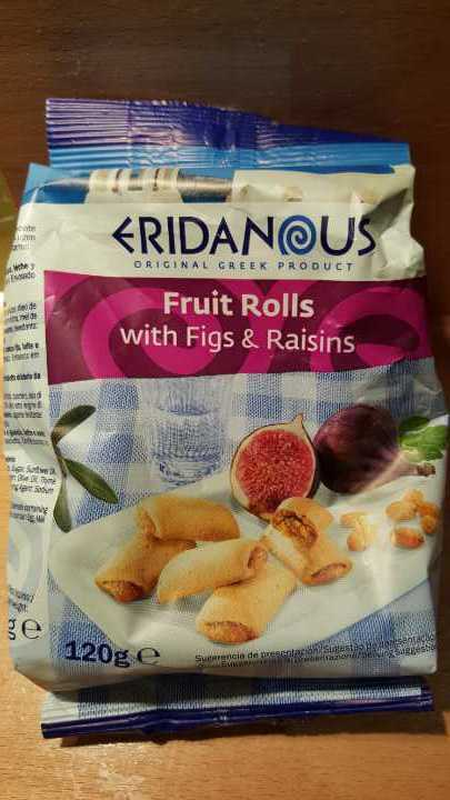 Fruit rolls/biscuits with figs and raisins
