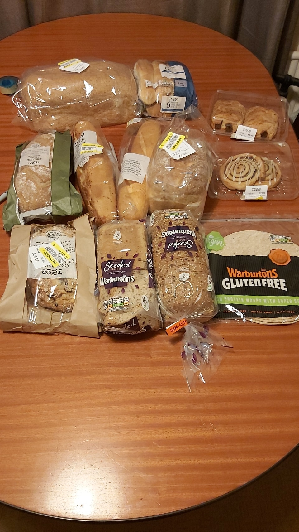 Tesco - Selection of bakery things
