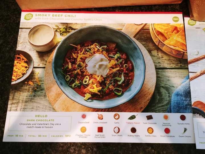 Hello Fresh (Chicken Stirfry, Pork Medallion, Beef Chili)