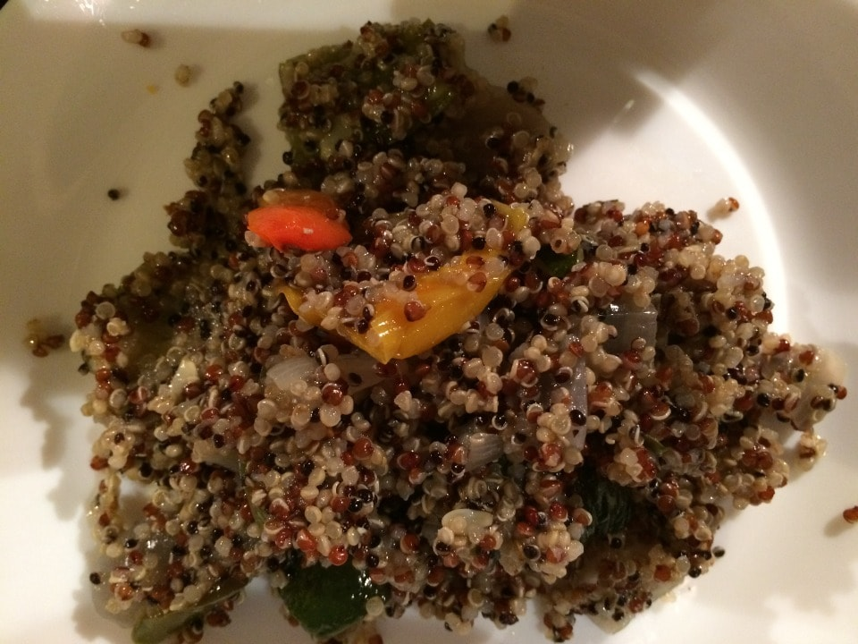 Vegan quinoa with vegetables from Deliciously Ella