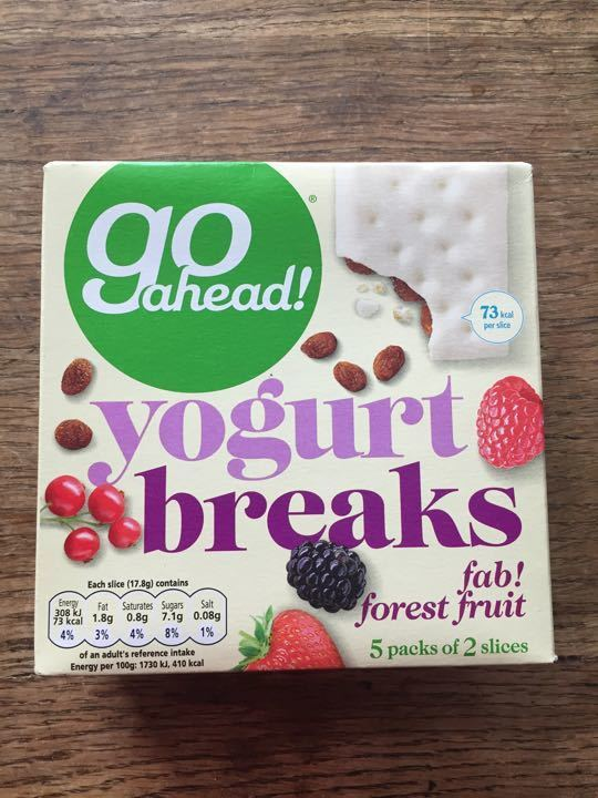 go ahead! Yogurt Breaks. BBE Oct 2017