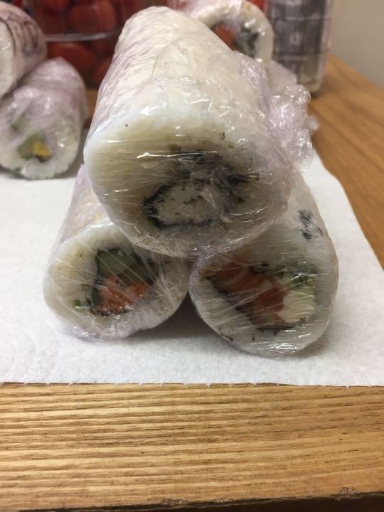 Mixed 1/2 sushi rolls