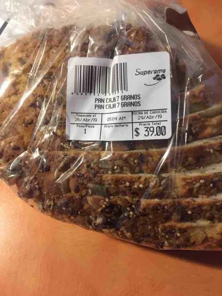 Pan de caja 7 granos