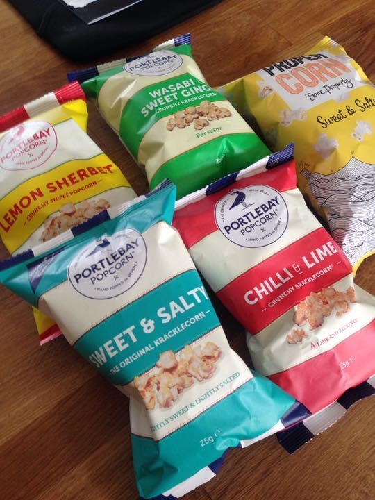 Popcorn, various flavours