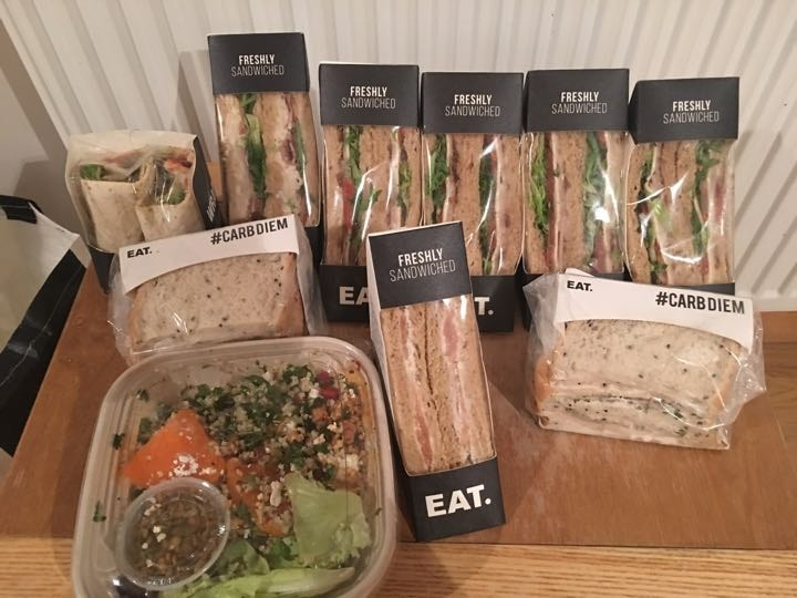 Sandwiches and salads various