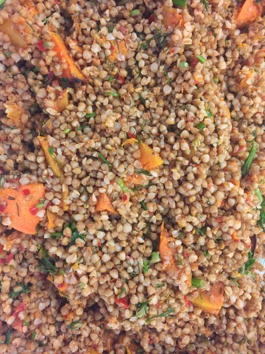 Squash and Bulgarwheat salad