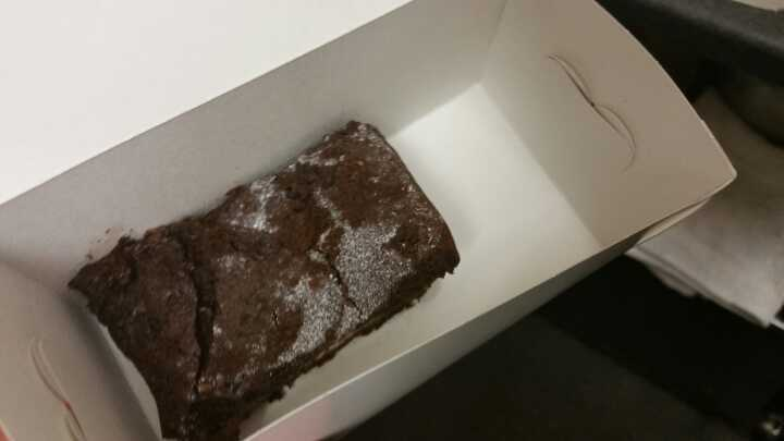 Brownie that is too gooey to sell at Angel Food Bakery