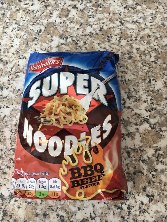 Super noodles BBQ beef