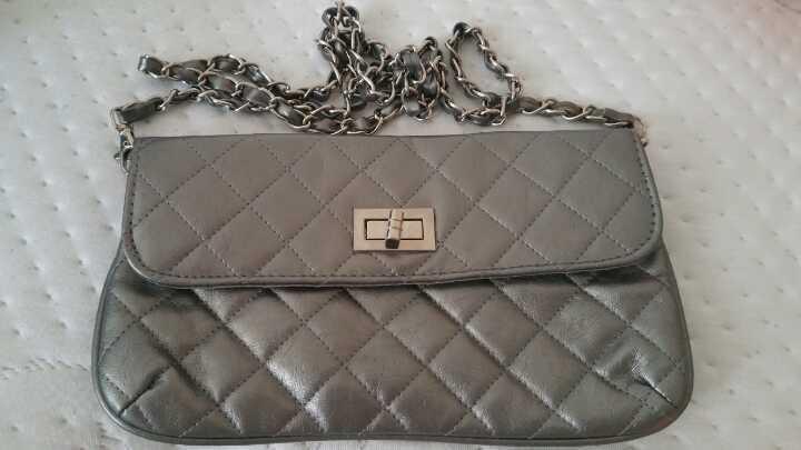 Pewter Clutch Bag