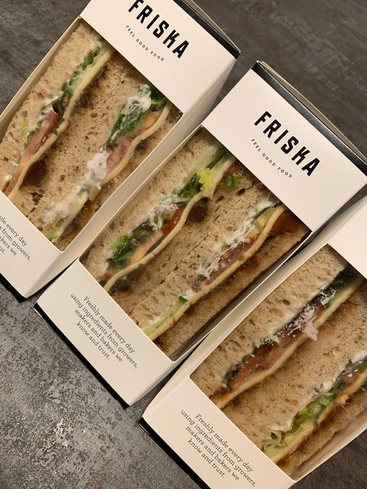 Friska Vegan Sandwiches x3