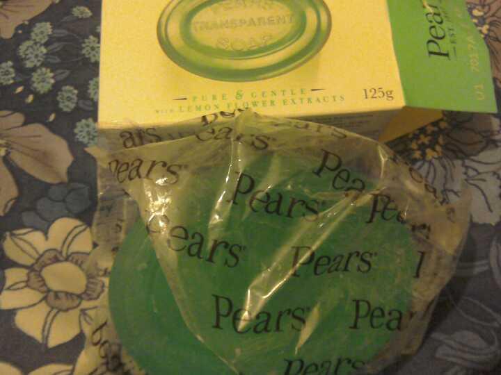 Unused pears soap