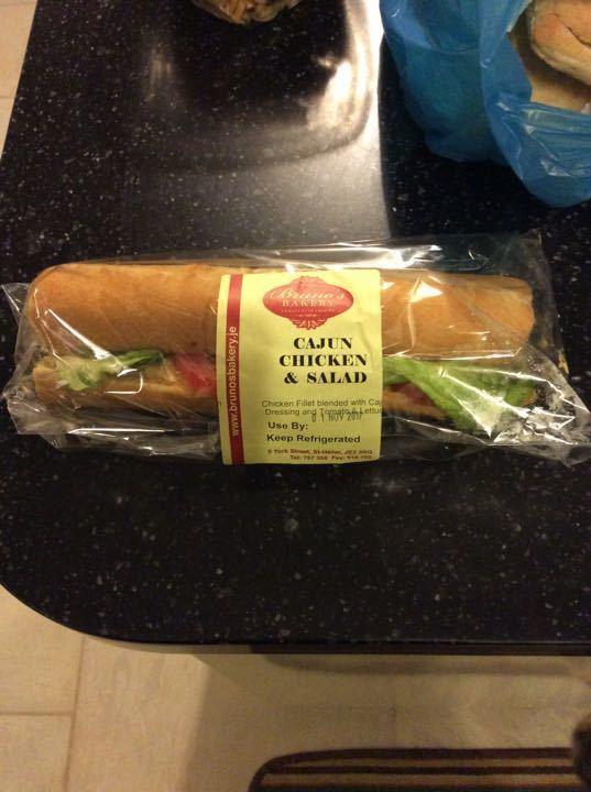 Cajun chicken baguette