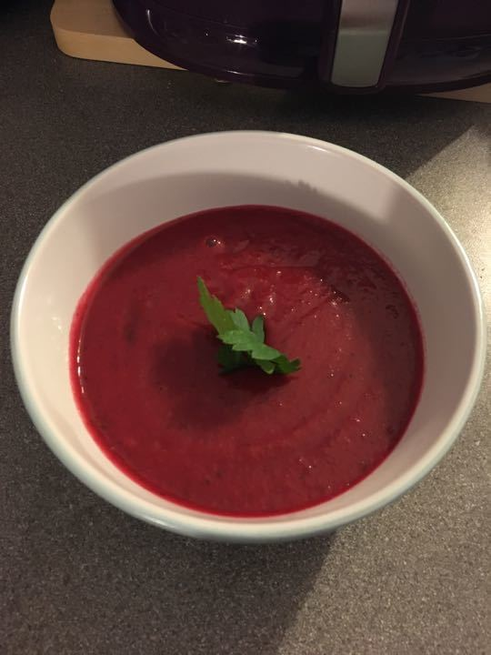 Homemade Borscht soup