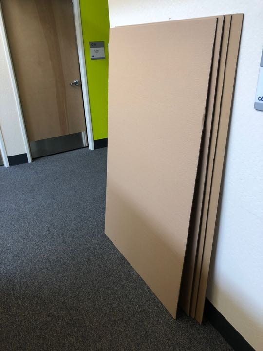 Large sheets of cardboard