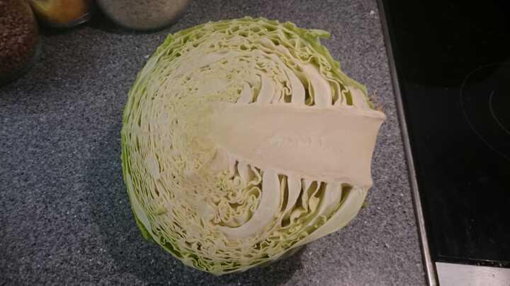 Half a green cabbage