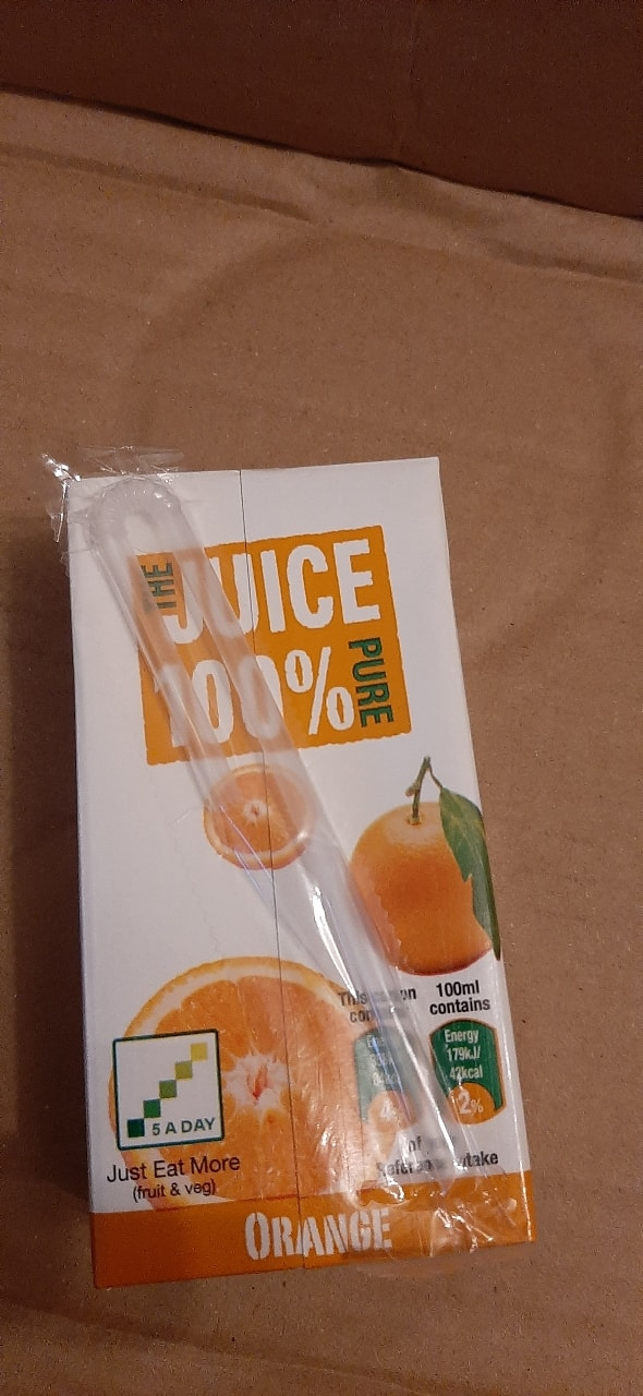 Individual drink cartons x3  (3 per person)