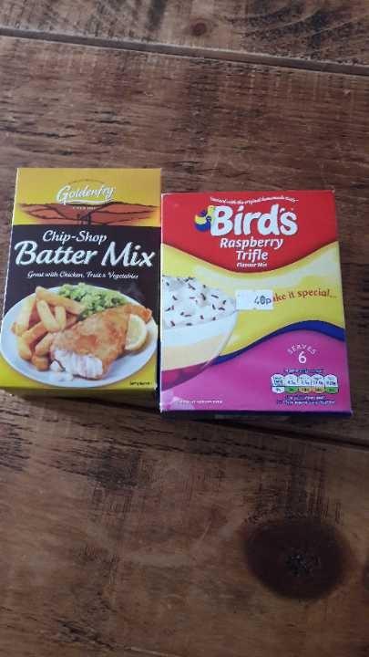 Birds custard and Better mix left