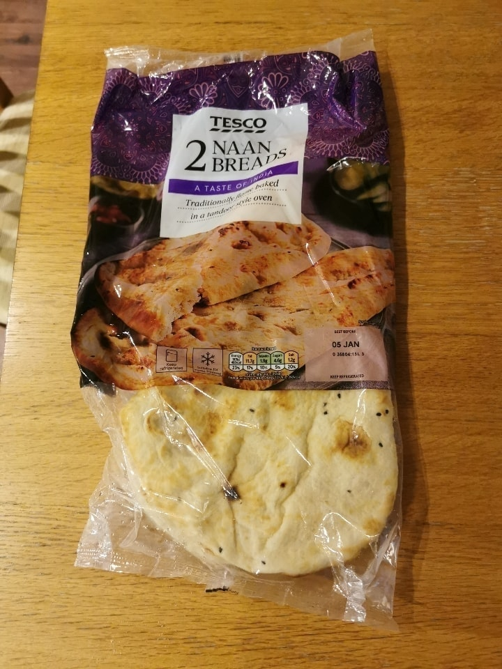 Two naan breads
