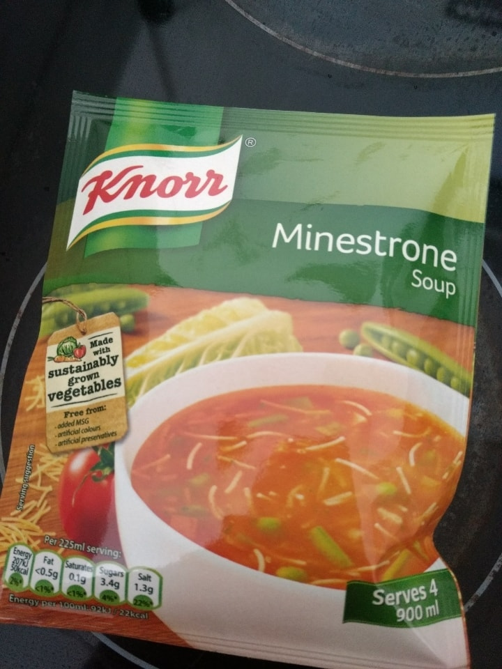 Minestrone soup packet