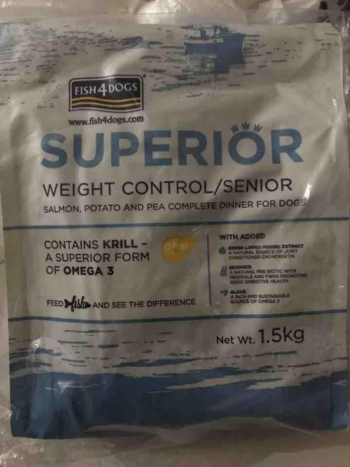Dog food, kibbles 2 packets