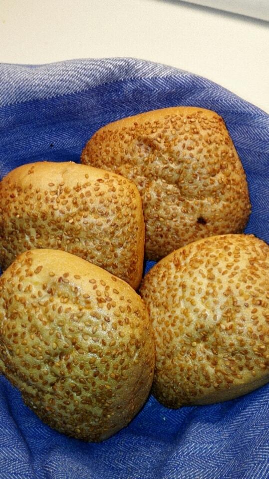 4 x sesam seeds white bread 27/7