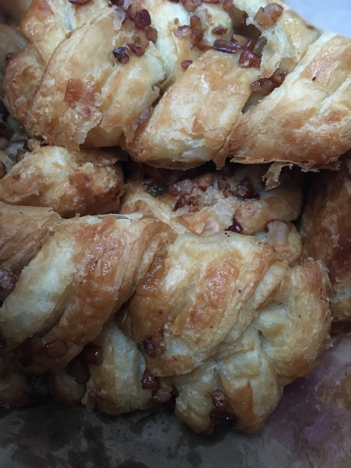 Tesco braided nutty pastries