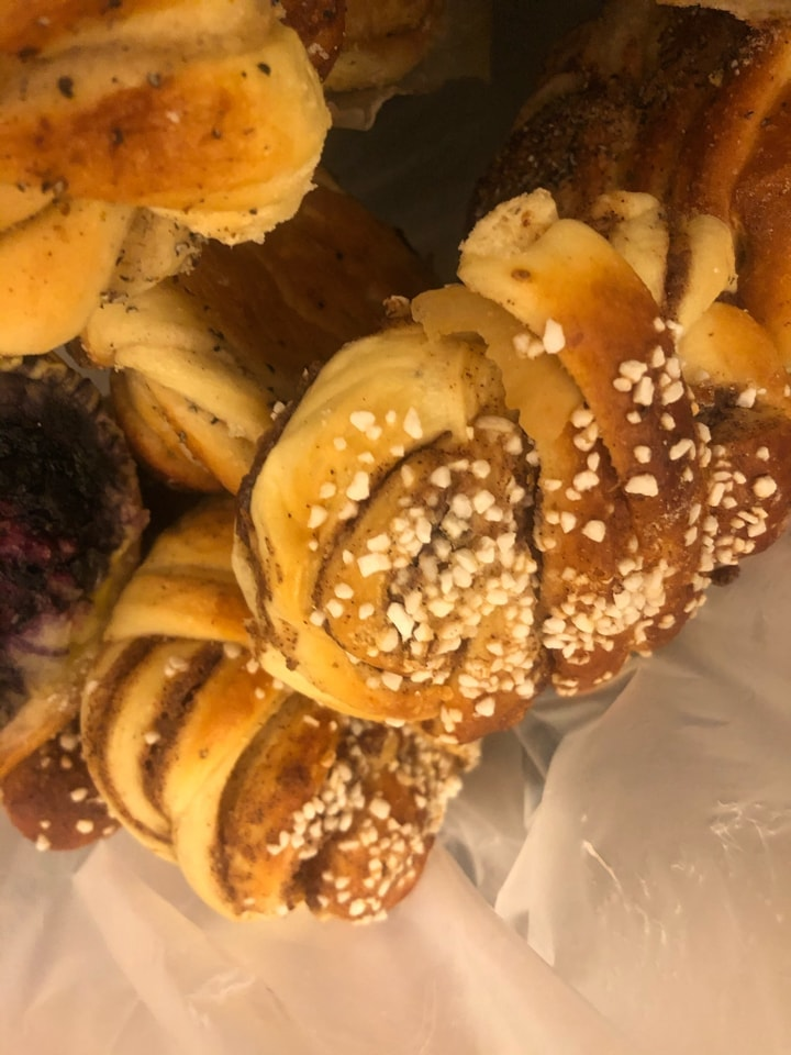 3x cinnamon buns -  from Haga 5/7 (yesterday)