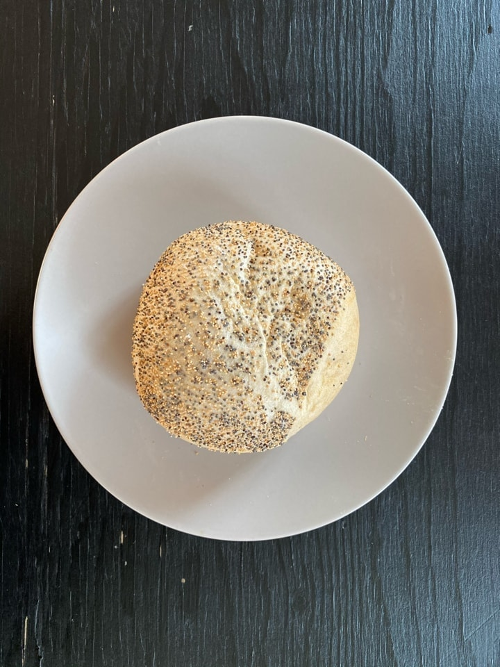 Small bread with poppy seeds from Lindquist's