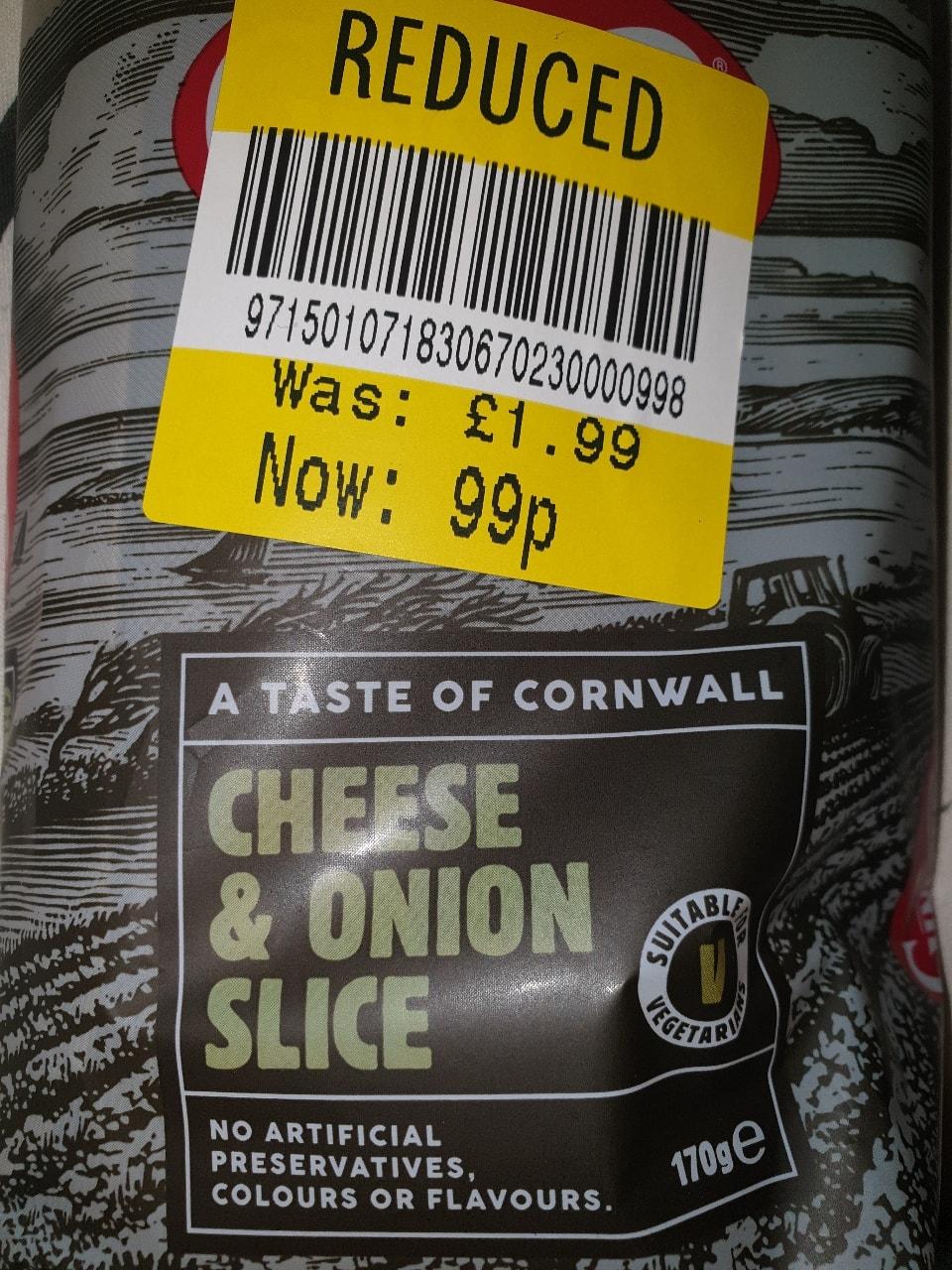 Cheese onion slice