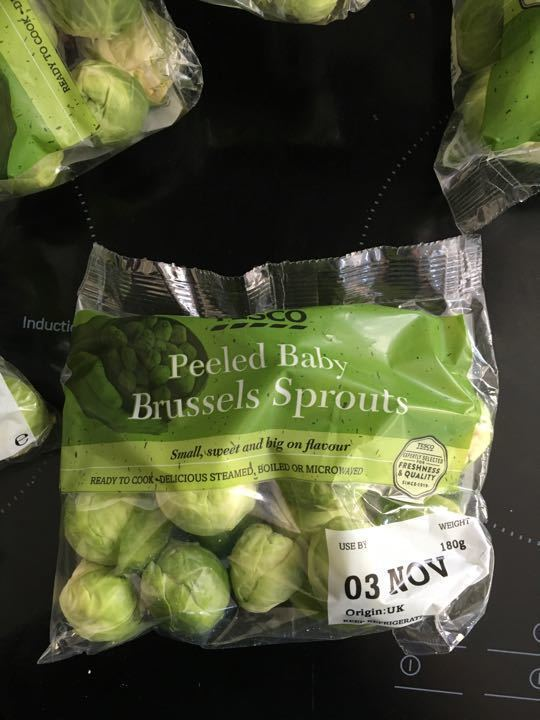 Peeled baby Brussels sprouts