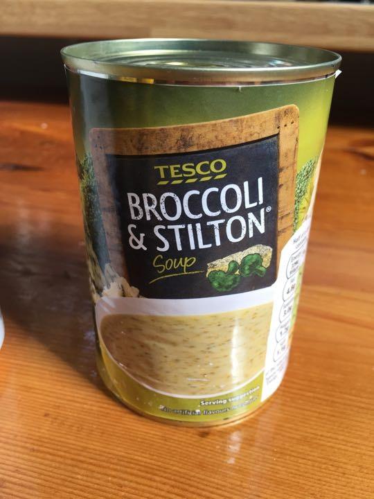 Soup: broccoli and Stilton