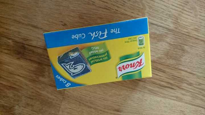 6 Knorr fish stockcubes